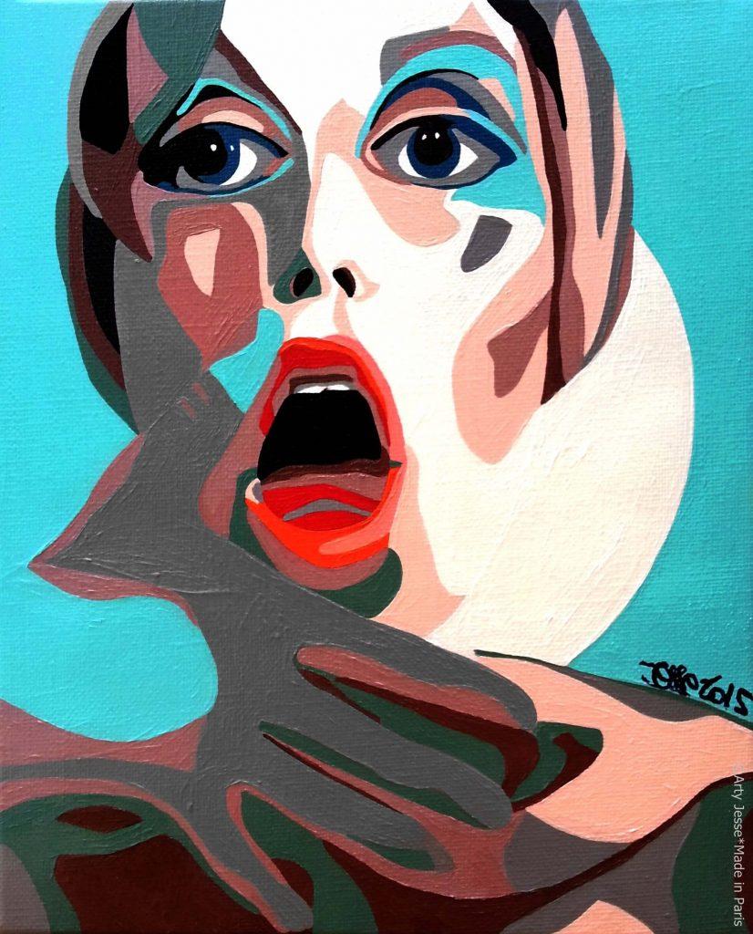 artiste peintre paris, pop art paris, twiggy painting, 1960s painting