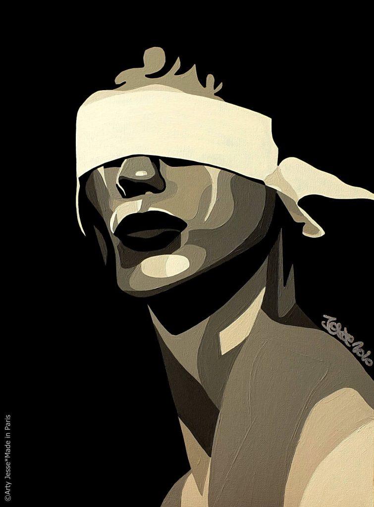 artiste peintre paris, pop art paris, circus art, yeux bandés