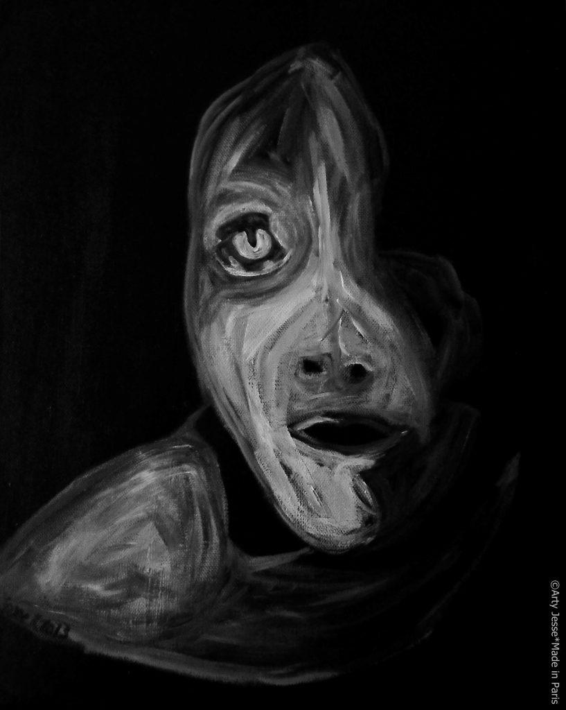 artiste peintre paris, pop art paris, beggar painting, retro art
