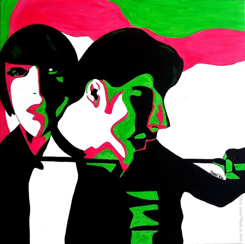 artiste peintre paris, pop art paris, gucci painting, lovers painting