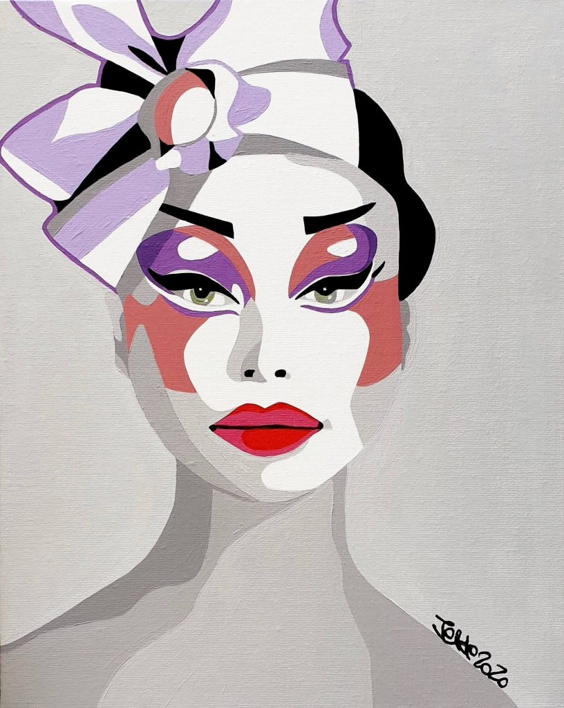 artiste peintre paris, circus art, acrobate, pop art paris
