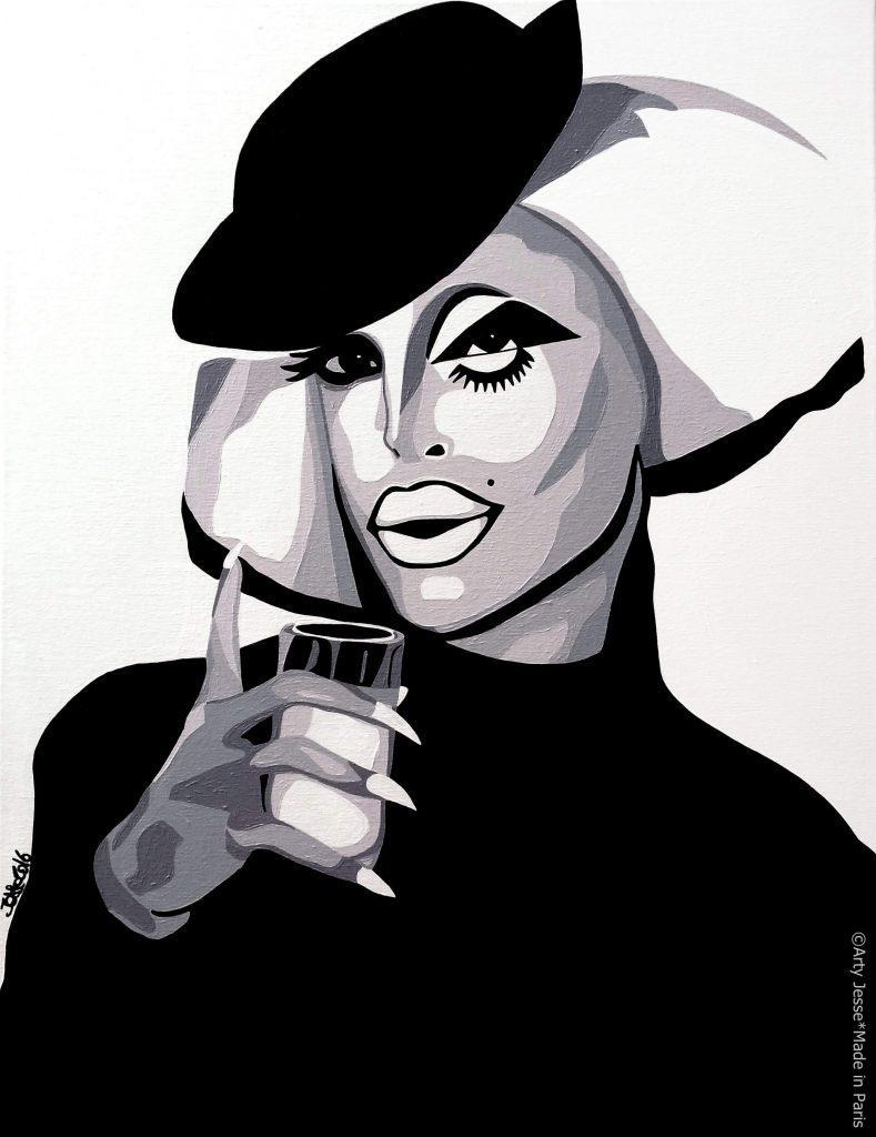 artiste peintre paris, drag queen, drag art, rpdr