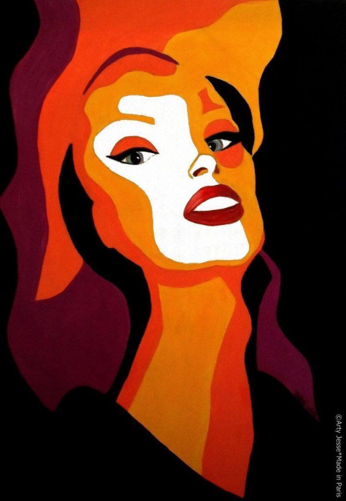 artiste peintre paris, pop art paris, brazilian painting, drag queen painting