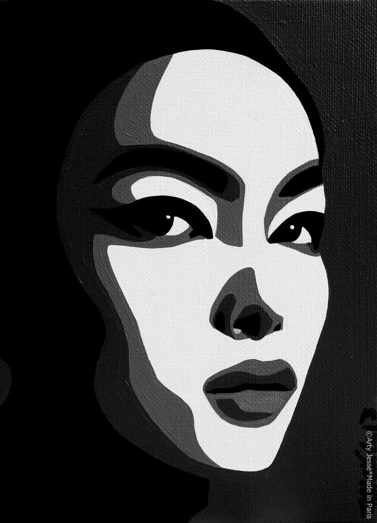 artiste peintre paris, pop art paris, asian girl painting, japonese girl painting