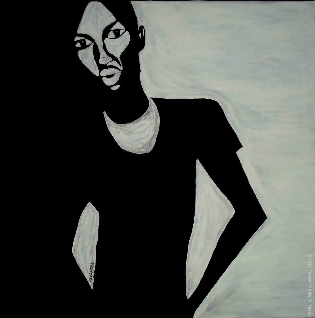 artiste peintre paris, pop art paris, lonely man painting, solitude peinture
