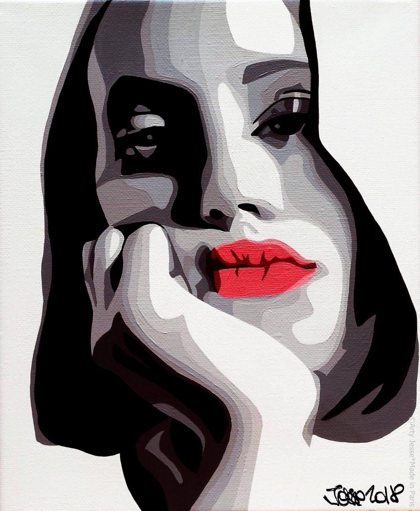 artiste peintre paris, pop art paris, teen girl painting, youth art