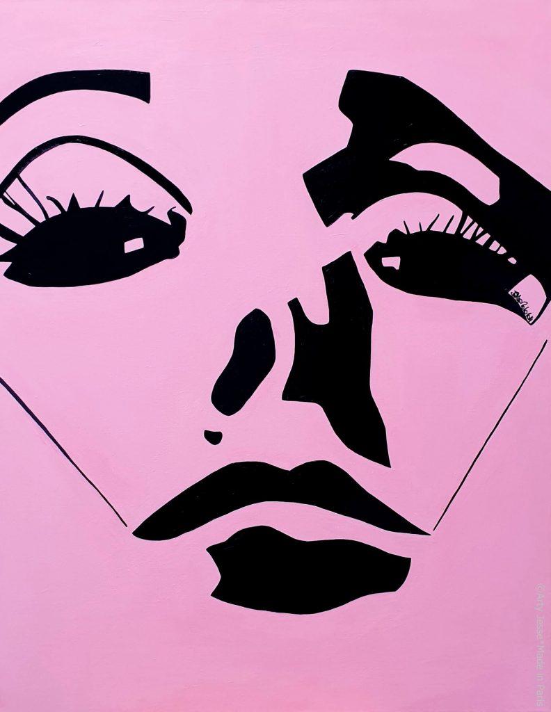 artiste peintre paris, pop art paris, faux cils peinture