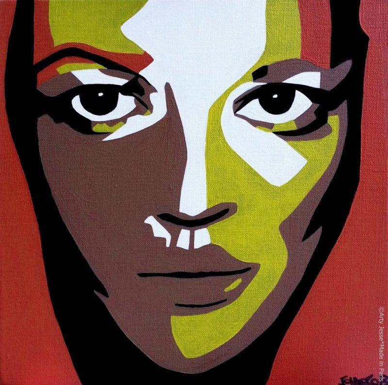 artiste peintre paris, pop art paris, kate moss painting, kate moss portrait