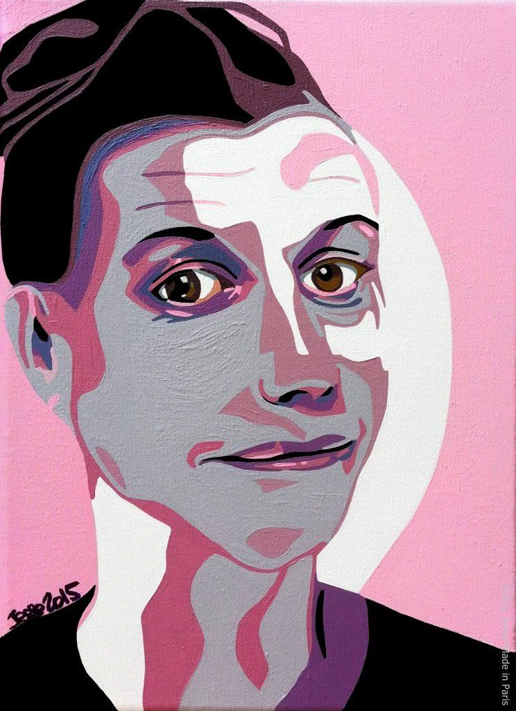 artiste peintre paris, commision work, french woman painting