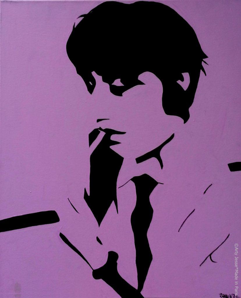 artiste peintre paris, pop art paris, smoker painting, androgynous art