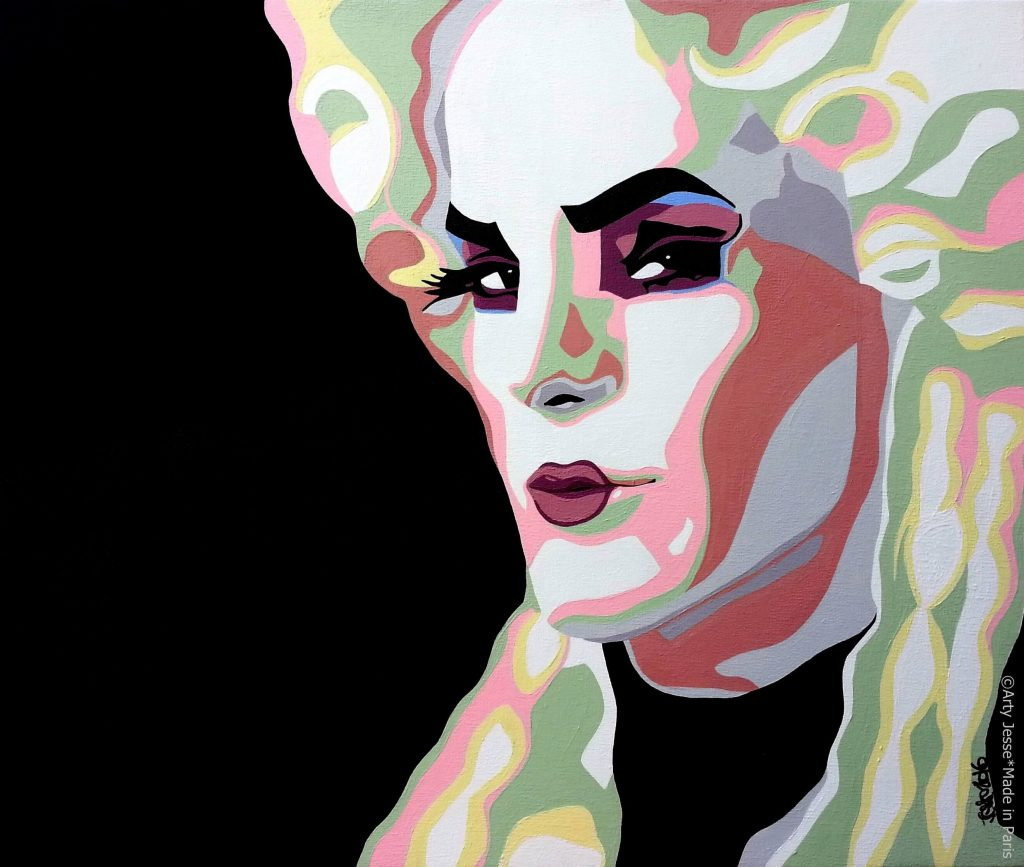 artiste peintre paris, drag queen, drag art, prince poppycock
