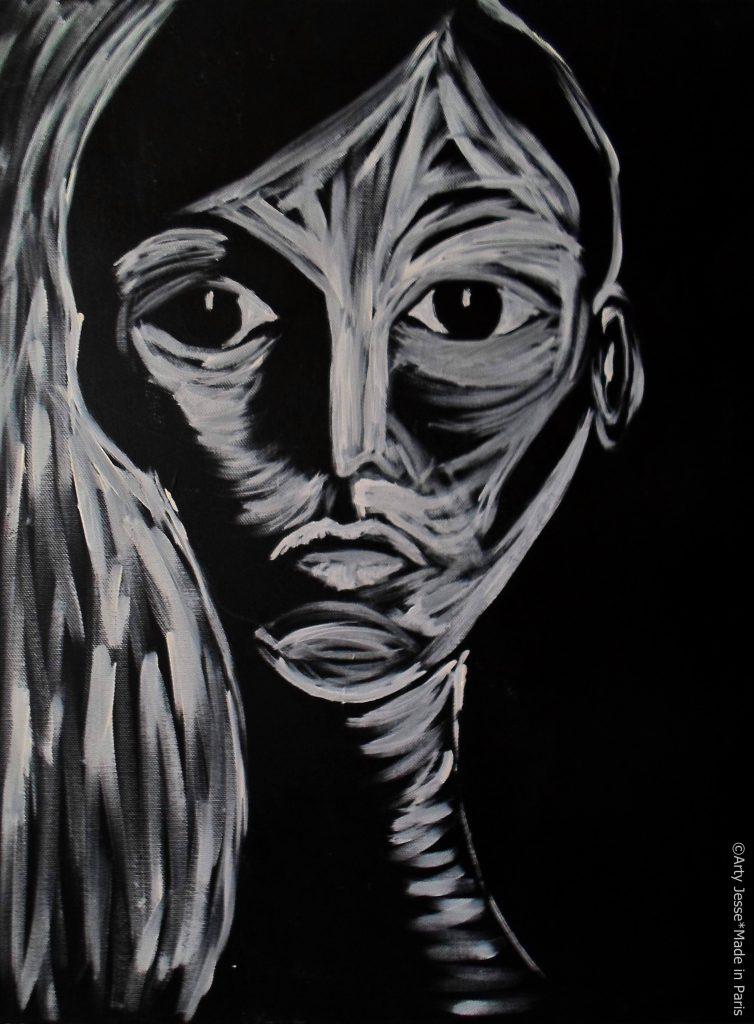 artiste peintre paris, pop art paris, thin girl painting