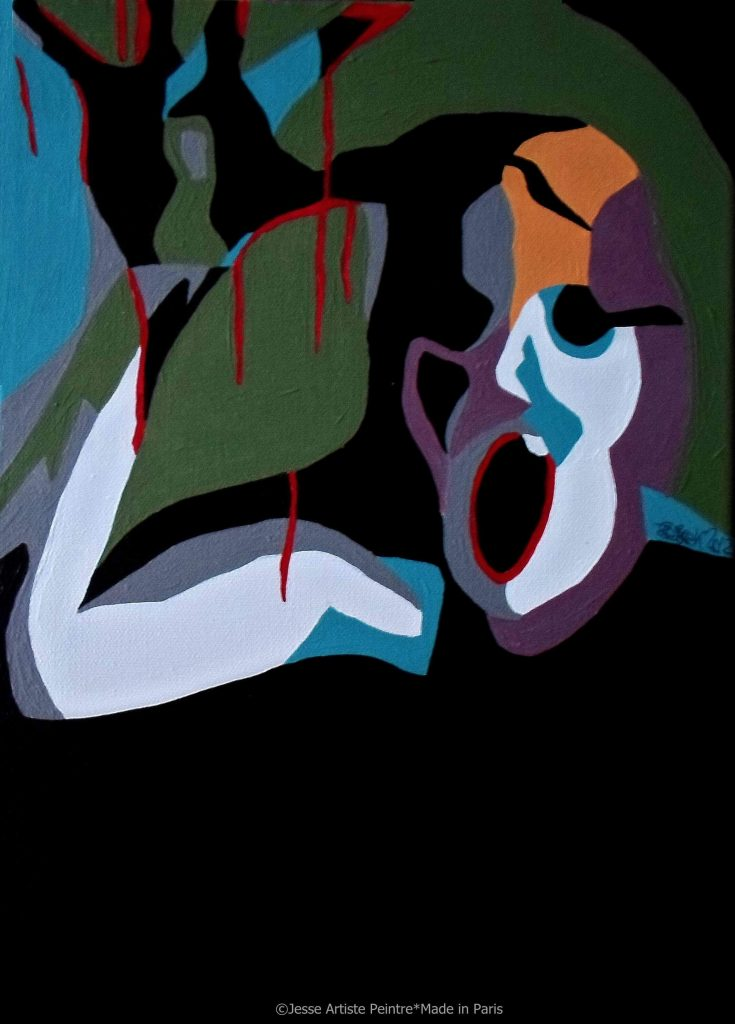 artiste peintre paris, pop art paris, red painting, scream painting