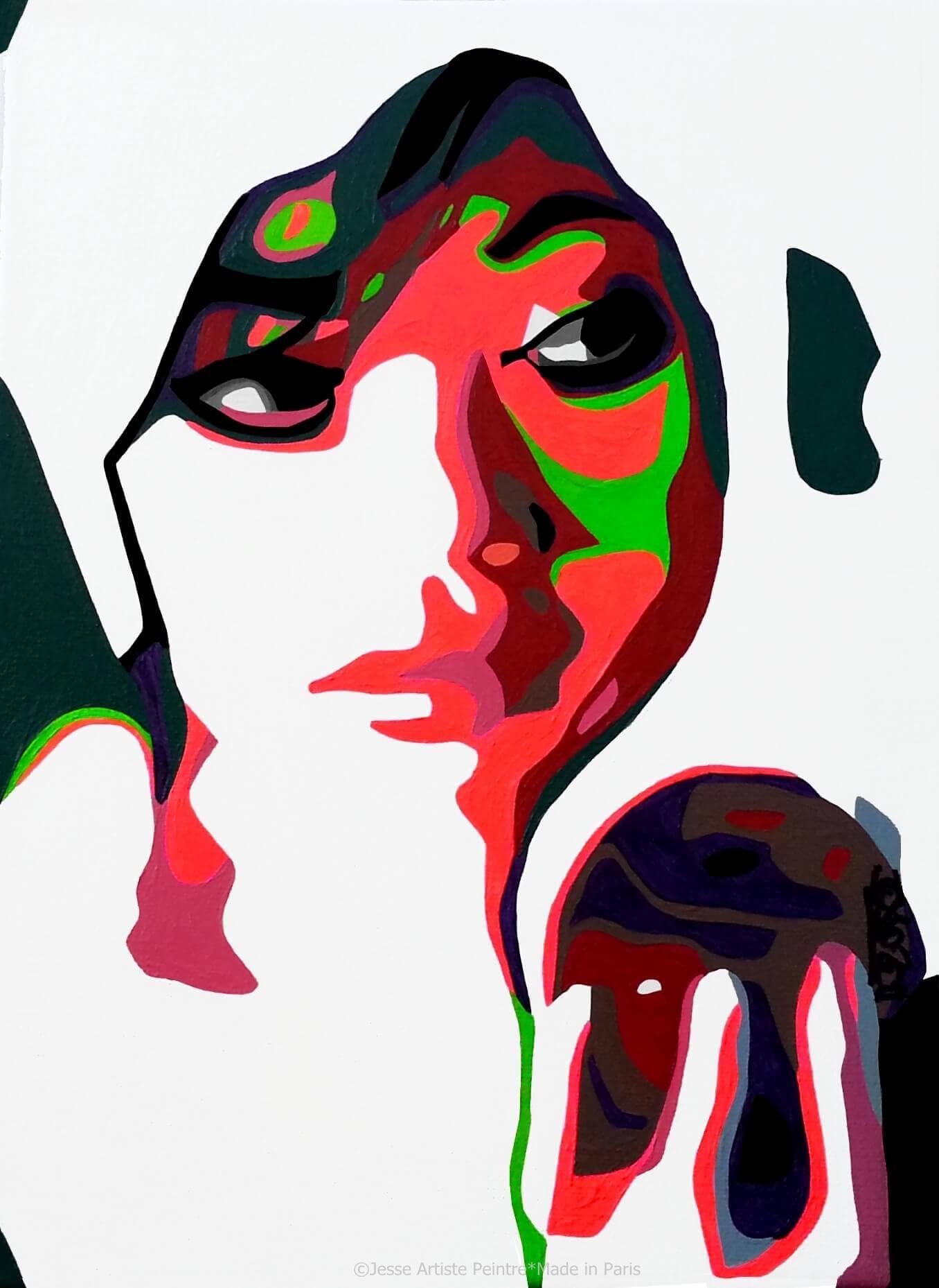 artiste peintre paris, pop art paris, red painting, eve painting, eden painting