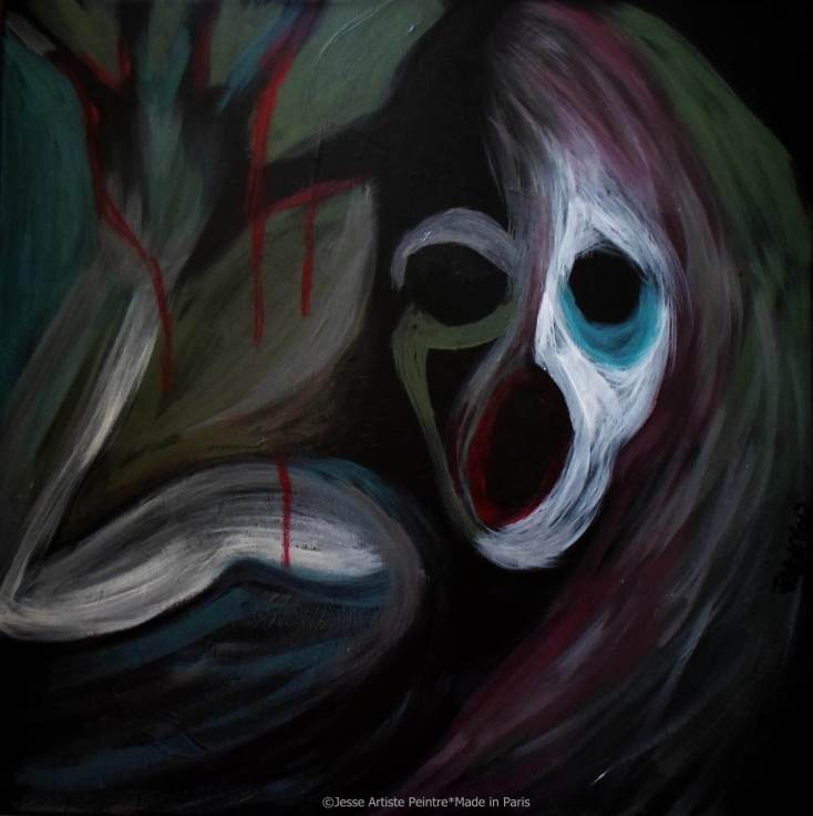 artiste peintre paris, pop art paris, red painting, voodoo painting