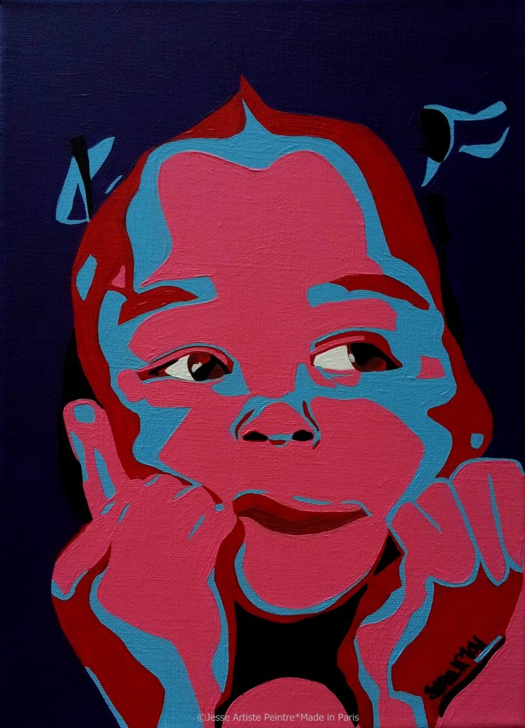 artiste peintre paris, pop art paris, red painting, child painting, kid painting