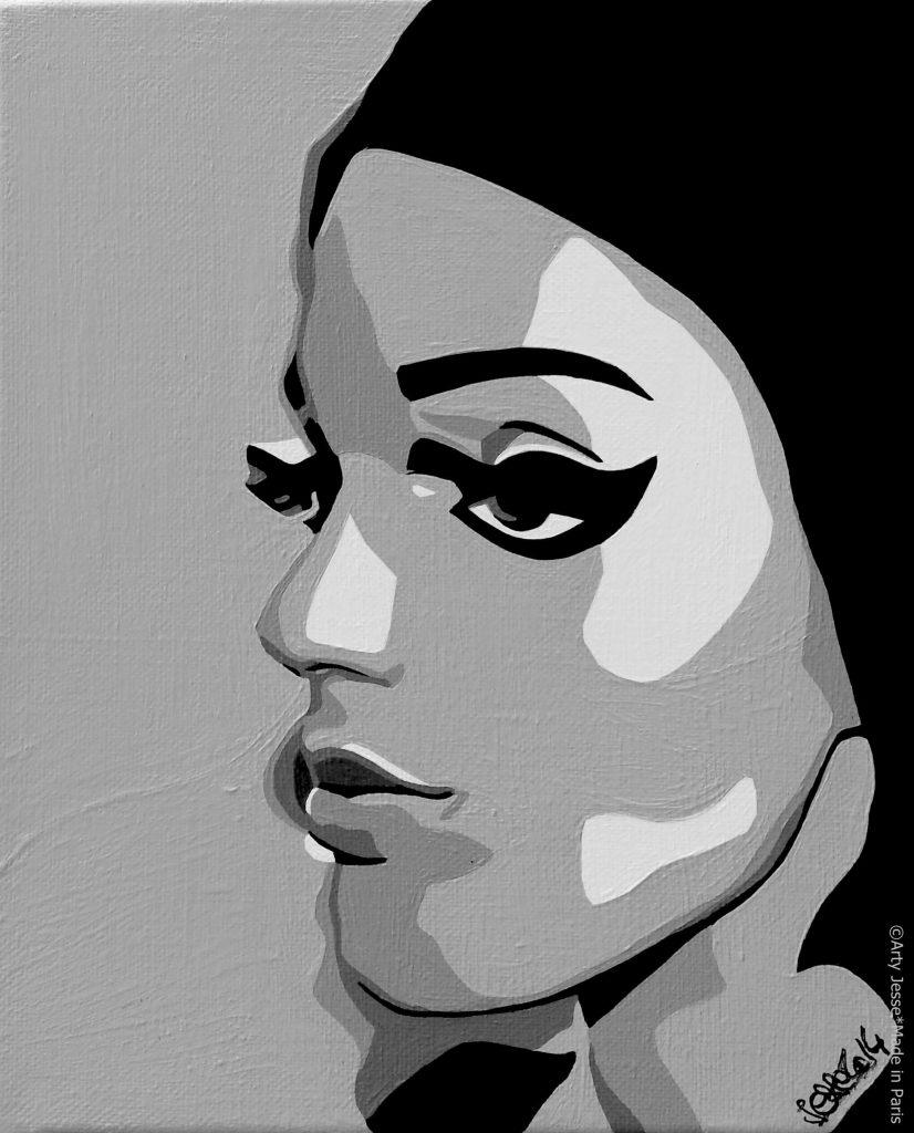 artiste peintre paris, pop art paris, sarah steller, sarah steller portrait, make up artist