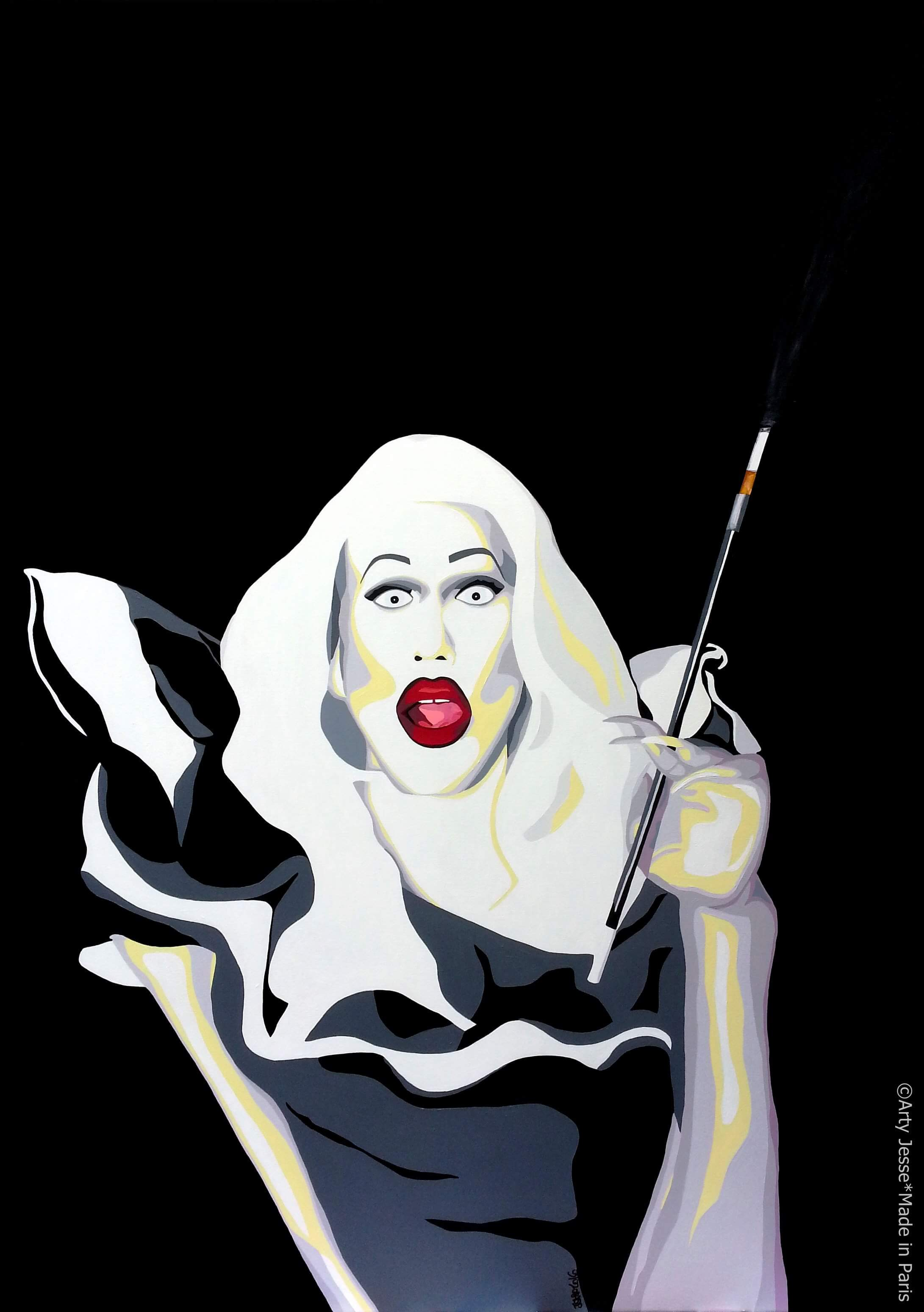 artiste peintre paris, drag queen, drag art, sharon needles