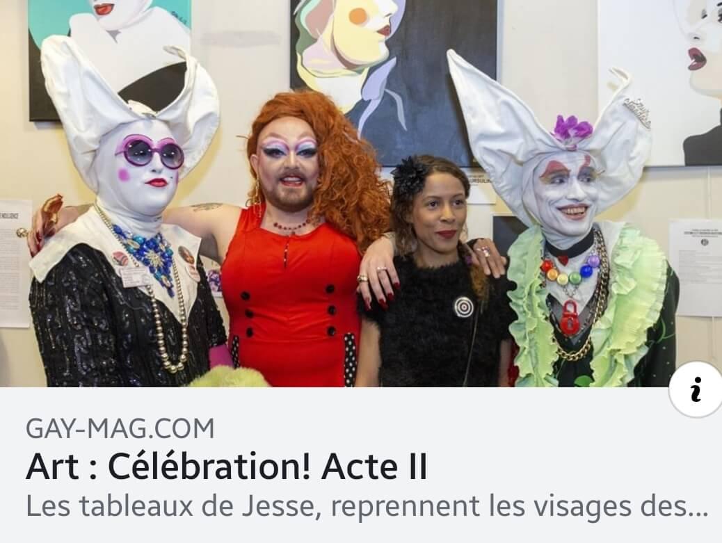 artiste peintre paris, les soeurs de la perpétuelle indulgence, expo paris LGBT, gay-mag