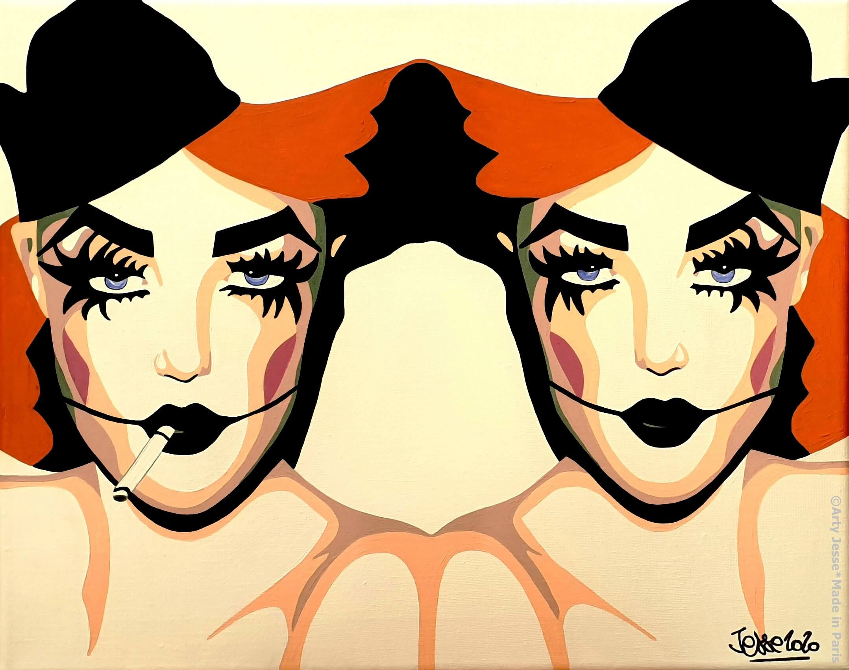 artiste peintre paris, circus art, siamese painting, siamoise peinture