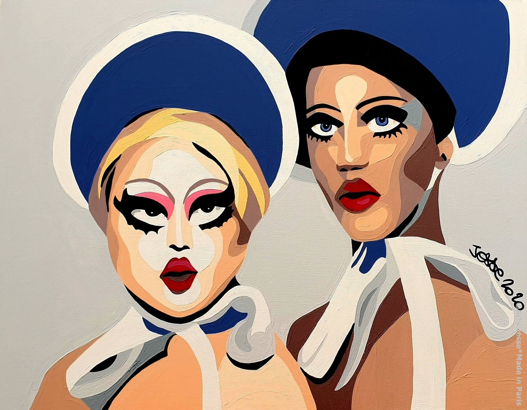 artiste peintre paris, circus art, drag queen, kim chi, naomi smalls, drag art