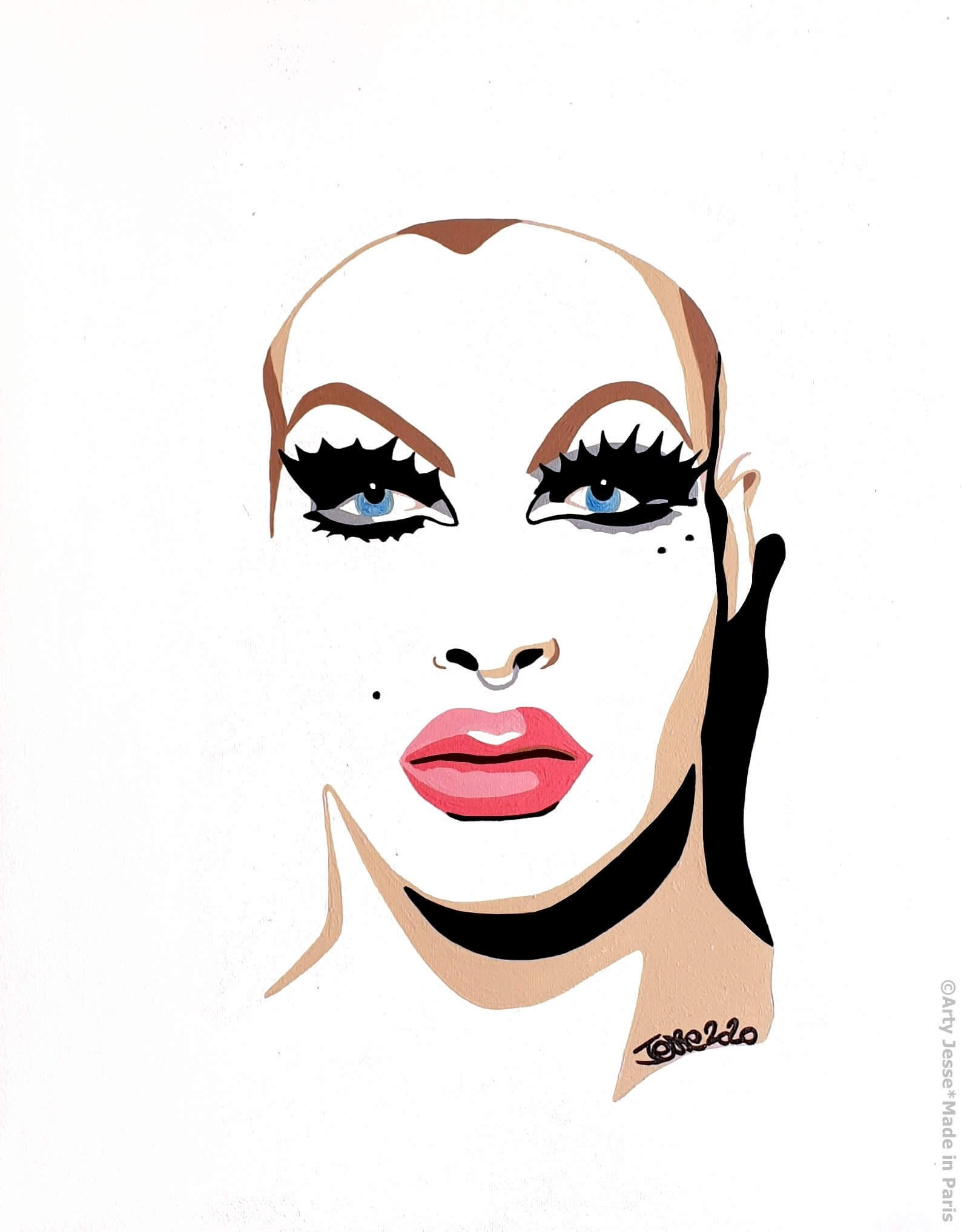 artiste peintre paris, circus art, drag queen, pearl liaison, drag art