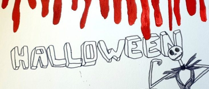 artiste intervenante paris, halloween art, kids craft, calligraphie, atelier