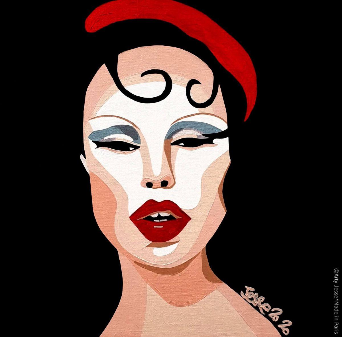 artiste peintre paris, pop artiste, pop art paris, art blog, femme forte, strong woman, circus, lgbt