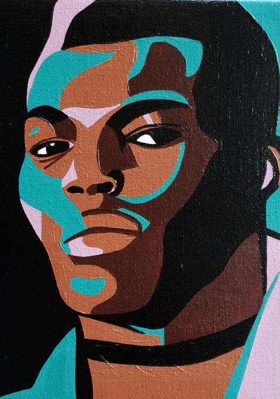 arty jesse, artiste peintre paris, pop artiste, pop art paris, art blog, circus art, black model