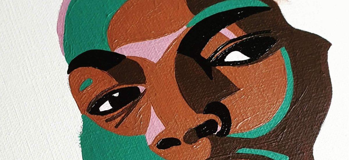 artiste peintre paris, circus painting, black man