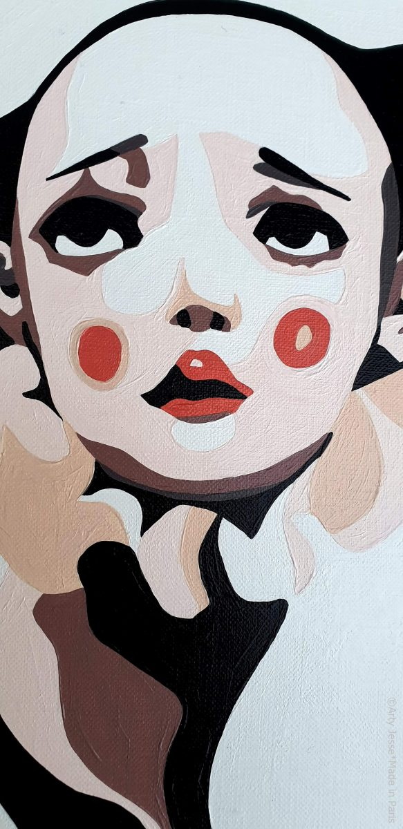 arty jesse, artiste peintre paris, pop artiste, pop art paris, art blog, circus art, contorsionniste