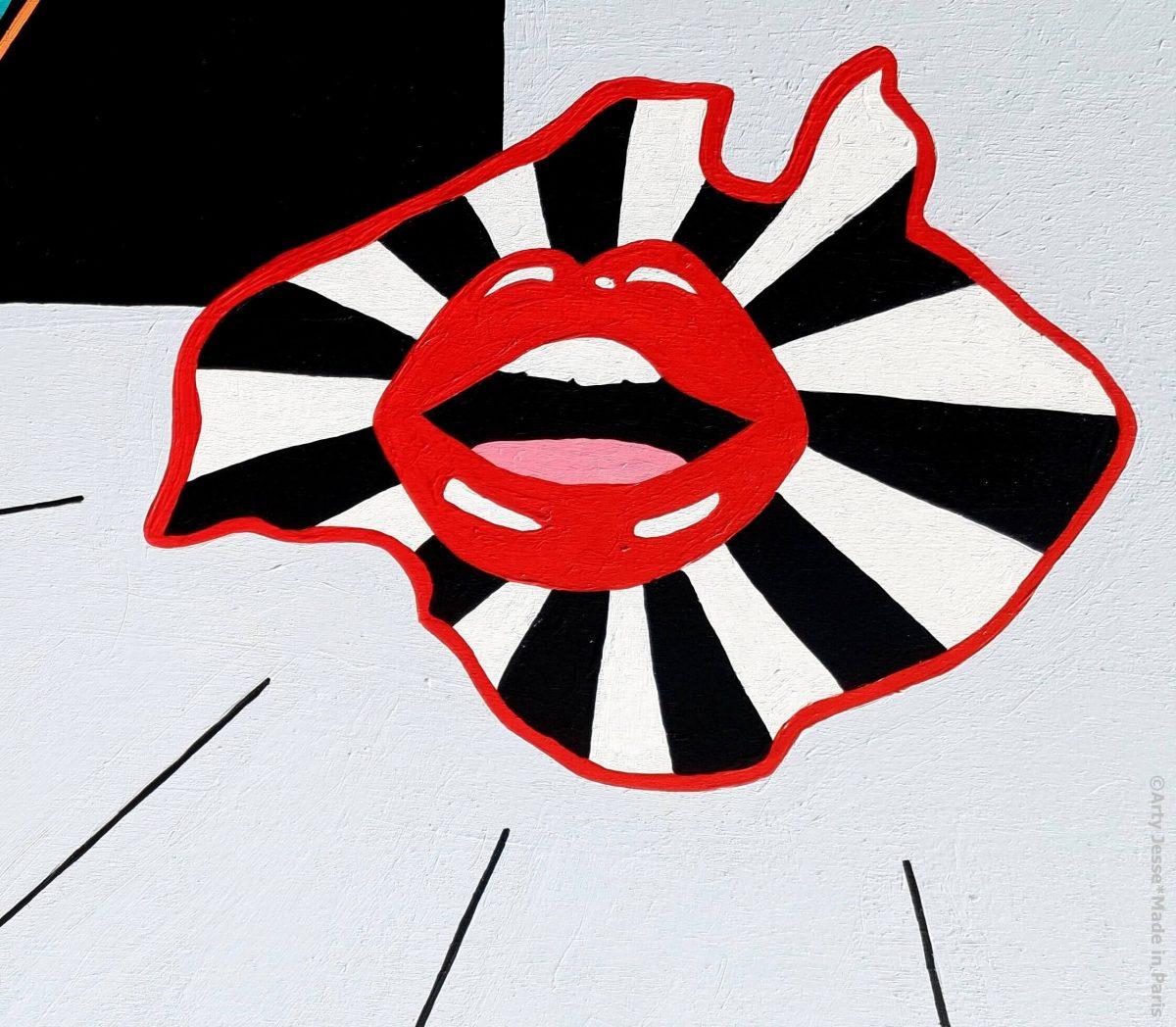 arty jesse, artiste peintre paris, pop art paris, art blog, arty world maps, carte du monde art, australie, funky