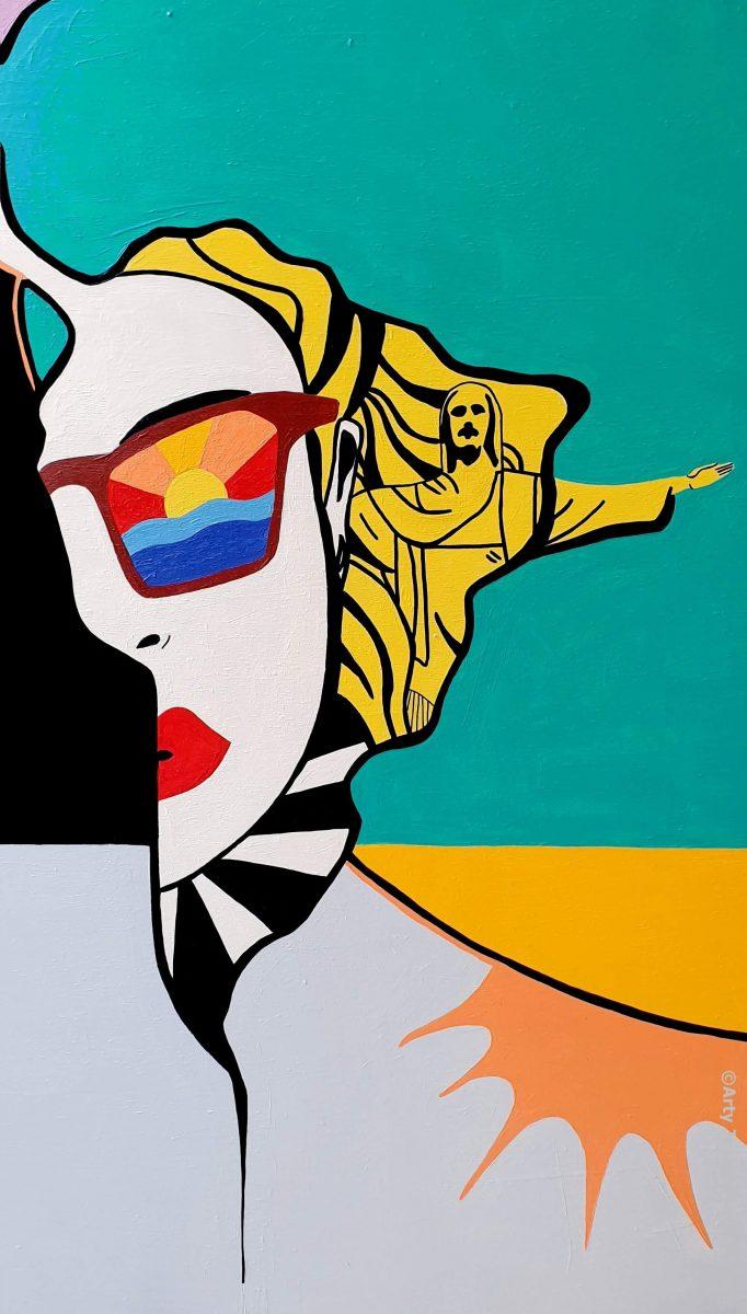 arty jesse, artiste peintre paris, pop art paris, art blog, arty world maps, carte du monde art, brésil