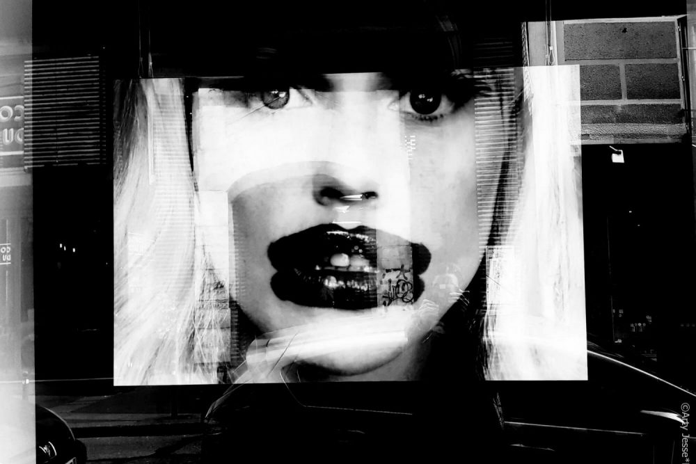 lipstick, photographie, noir et blanc, arty jesse, artiste peintre paris