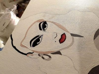 violet chachki, drag queen, drag art, rpdr, drag painting