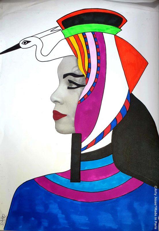 egyptian kids craft, egyptian art workshop, claje reuilly