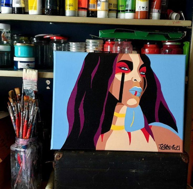 arty jesse, artiste peintre paris, pop art paris, art blog, circus art, amazone