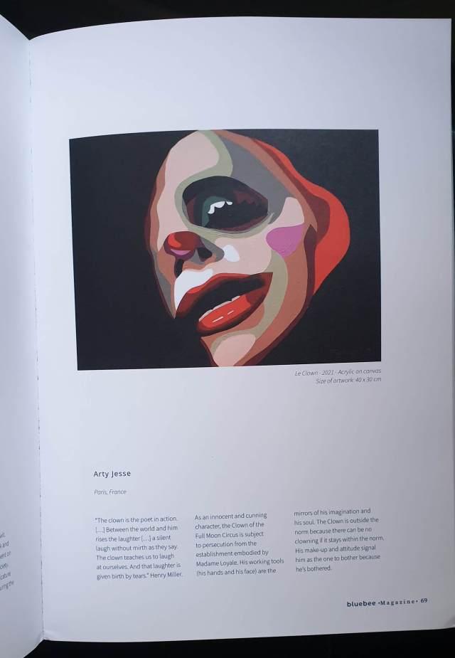 bluebee magazine, parution, arty jesse